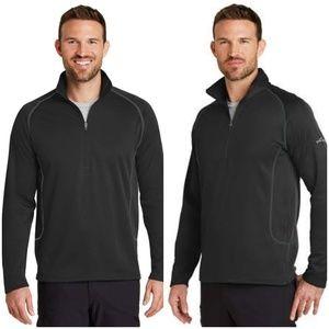 Eddie Bauer 1/2 Zip Fleece Base Layer Black Medium